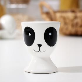 Подставка для яйца Доляна «Панда», 5×5×6,2 см