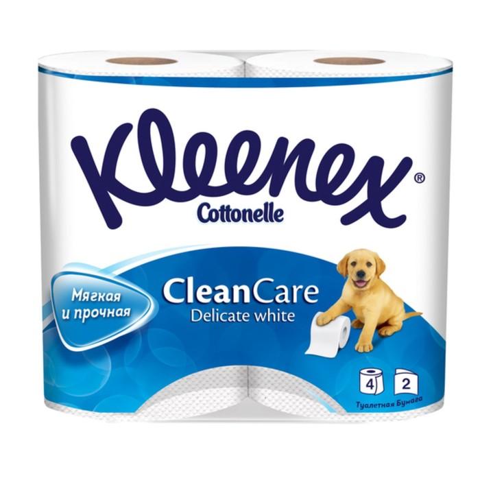 Туалетная бумага Kleenex Delicate White, белая, 2 слоя, 4 шт.