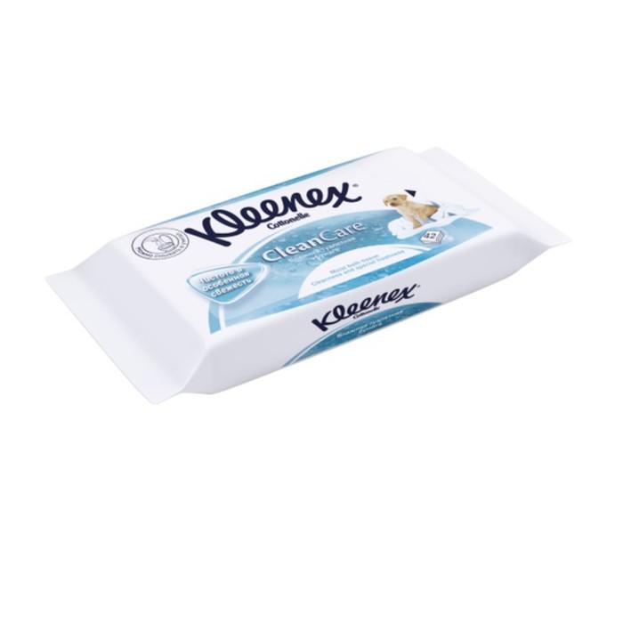Туалетная бумага KLEENEX влажная Коттон Фреш сменный блок (в упак - 42 шт)