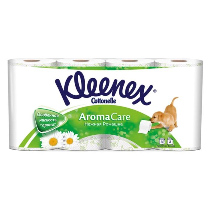 "Туалетная бумага Kleenex ""Нежная ромашка"", 3 слоя, 8 шт."