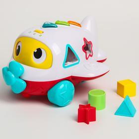 Развивающая игрушка, музыкальный «Самолетик», сортер