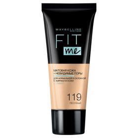 Тональный крем Maybelline Fit Me матирующий, скрывающий поры, оттенок № 119 песочный