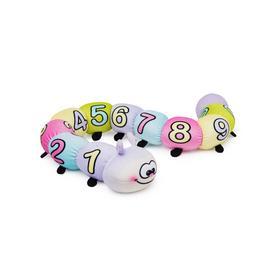 Мягкая игрушка «Гусеничка Фаня» с цифрами-антистресс, 58 см
