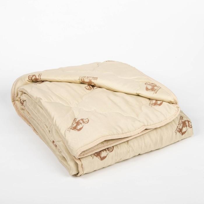 """Одеяло облегчённое Адамас """"Овечья шерсть"""", размер 140х205 ± 5 см, 200гр/м2, чехол п/э"""