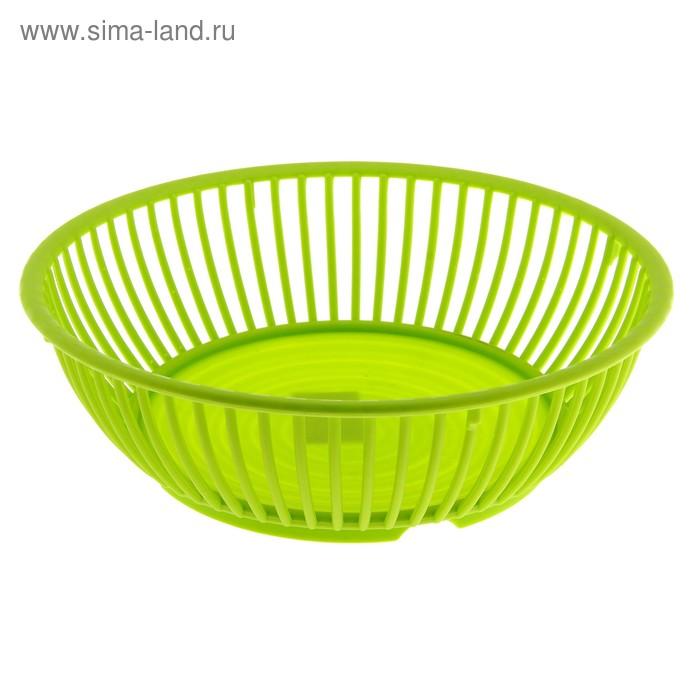 """Ваза для фруктов d=18 см """"Классика"""", зеленая"""