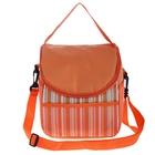 """Термо-сумка """"Оранжевое настроение"""" 1 отдел, 2 наружных кармана, длинный ремень, оранжевый"""
