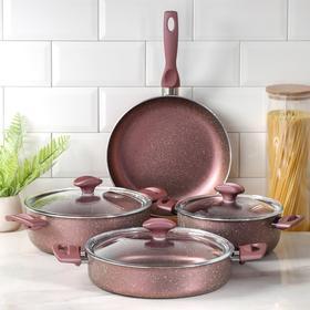 Набор посуды Papilla Fred: 4 предмета: кастрюля, 2,4 л, 4,2 л; сотейник, 3 л, d=26; сковорода d=26 см