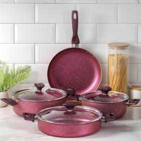 Набор посуды Papilla Fred, 4 предмета: кастрюля, 2,4 л, 4,2 л; сотейник, 3 л, d=26; сковорода d=26 см