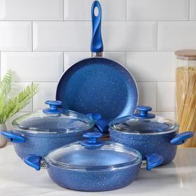 Набор посуды Papilla Fred, 4 предмета: кастрюля, 2,4 л, 4,2 л; сотейник, 3 л, d=26; сковорода, d=26 см