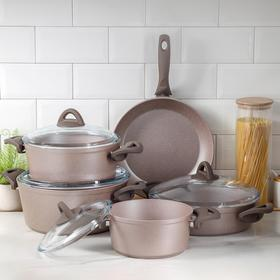 Набор посуды Papilla Wilma, 5 предметов: кастрюля, d=20/24/28; сотейник d=28 см; сковорода d=28 см