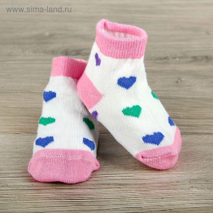 Носки детские Collorista Сердце, L/2-3 г., цвет микс