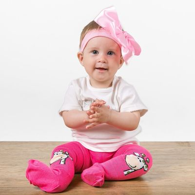 """Детские колготки с рисунком """"Жираф"""", M/6-12 мес, 62-68 см, 80% хлопок,15% полиэстер, 5% спандекс, цвета МИКС"""