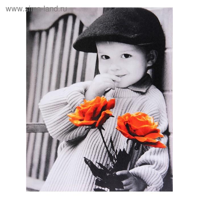 """Световая картина """"Детки"""" (с цветами)"""