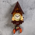 "Wall clock, series: Pendulum, cuckoo ""Bears in the house,"" 15х27.3 cm"
