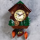 "Wall clock with cuckoo, series: Children, ""the Mill wheel"", 18х21 cm"