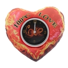 "Table clock ""Hot love"", 19х16 cm, dial d-8.8 cm"