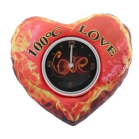 Часы настольные 'Горячая любовь', 19х16 см,  циферблат  d-8.8см Ош