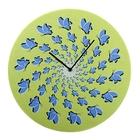 """Часы настенные, серия: Интерьер, """"Бабочки"""", оптическая иллюзия, d=40 см"""