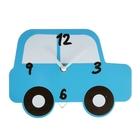 """Часы настенные, серия: Детские,  """"Машинка"""", синие, 17х22 см"""