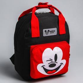 Backpack bag Mickey, 20 * 9 * 28, zip, n / pocket, black