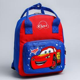 Backpack bag Cars, 20 * 9 * 28, zippered, n / pocket, blue