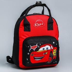 Backpack bag Cars, 20 * 9 * 28, zippered, n / pocket, black