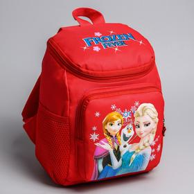 Backpack Cold Heart, 21 * 12 * 29, zipped compartment, n / pocket, 2 side pockets, red