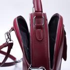Рюкзак молодёжный, 2 отдела на молниях, 2 наружных кармана, цвет красный - фото 789149