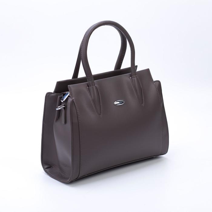 Сумка женская, отдел на молнии, наружный карман, цвет коричневый - фото 789325