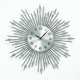 """Часы настенные, серия: Интерьер, """"Лучики"""", овальные кристаллы, d=33 см, микс"""