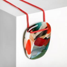 """Кулон из витражного стекла """"Воображение"""", форма МИКС, цвет МИКС , длина 80см"""