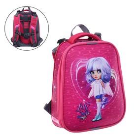 """Рюкзак каркасный, Stavia, 38 х 30 х 16 см, для девочки, эргономичная спинка, """"Кукла ангел"""""""