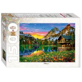 Пазл «Озеро в Альпах», 1500 элементов