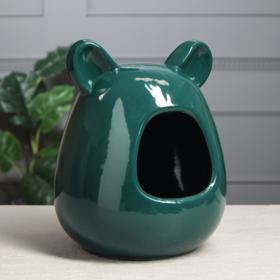 Ванна для шиншилл, зелёная, керамика, 26 см