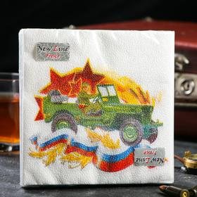 Paper napkins New line FRESCO Defender of the Motherland 2 layers, 20 sheets, 33 * 33