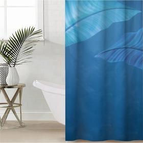 Штора для ванной комнаты «Умиротворение», 145×180 см, оксфорд