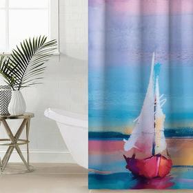 Штора для ванной комнаты «Парус», 145×180 см, оксфорд
