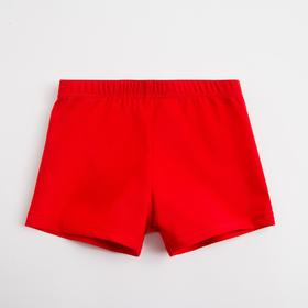 Bathing boxers for boy MINAKU monophonic red, height 110-116 (6)