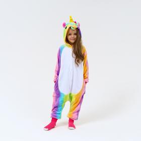 Кигуруми детский Единорог цветной,рост110