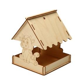Кормушка для птиц «Бычок», 18 × 16 × 15 см, Greengo