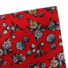 Ткань, мелкий цветочек на красном, ширина 150 см