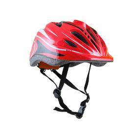 Шлем детский, размер M, обхват головы 52-56 см, цвет красный
