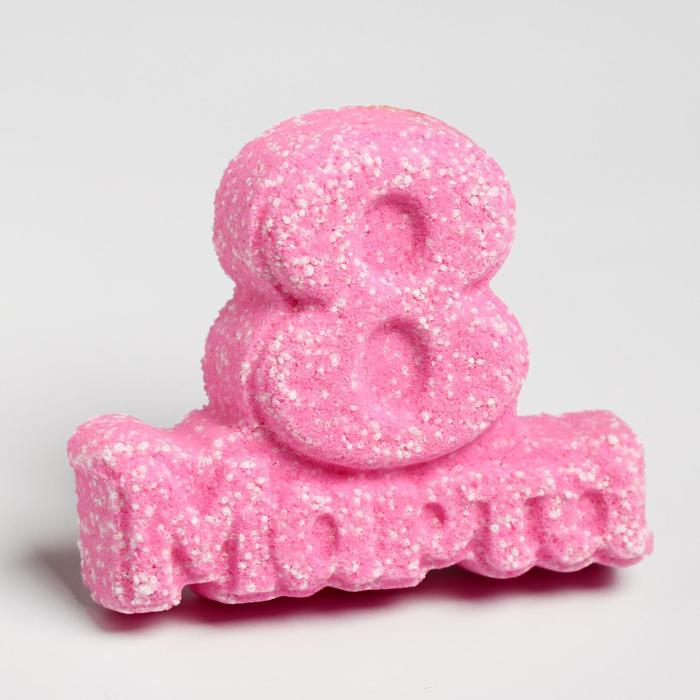 """Бомбочка для ванны """"С 8 марта!"""", роза, 80 г"""