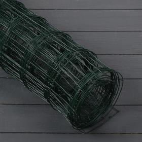 Сетка сварная, 1,8 × 10 м, ячейка 75 × 100 мм, d = 1,6 мм, металл с ПВХ покрытием, зелёная
