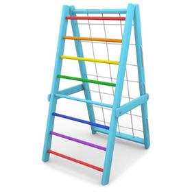 Детский спортивный комплекс Компакт, складной, цвет голубой-радуга