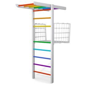 Детский спортивный комплекс Балкончик, цвет белый-радуга