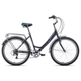 """Велосипед 26"""" Forward Sevilla 2.0, 2021, цвет черный матовый/белый, размер 18,5"""""""