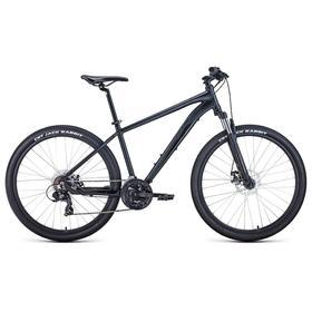 """Велосипед 27,5"""" Forward Apache 2.2 disc, 2021, цвет черный матовый/черный, размер 21"""""""