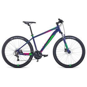 "Велосипед 27,5"" Forward Apache 3.2 disc, 2021, цвет фиолетовый/зеленый, размер 19"""