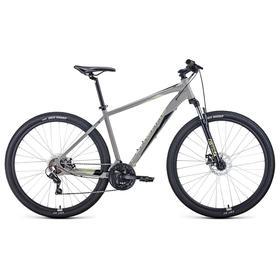 """Велосипед 29"""" Forward Apache 2.2 disc, 2021, цвет серый/бежевый, размер 17"""""""